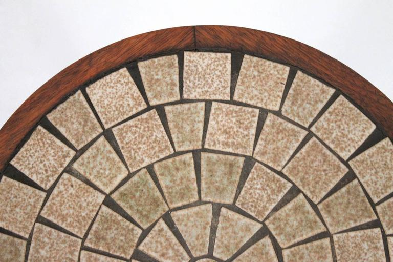Martz for Marshall Studios Ceramic and Walnut Table For Sale 1