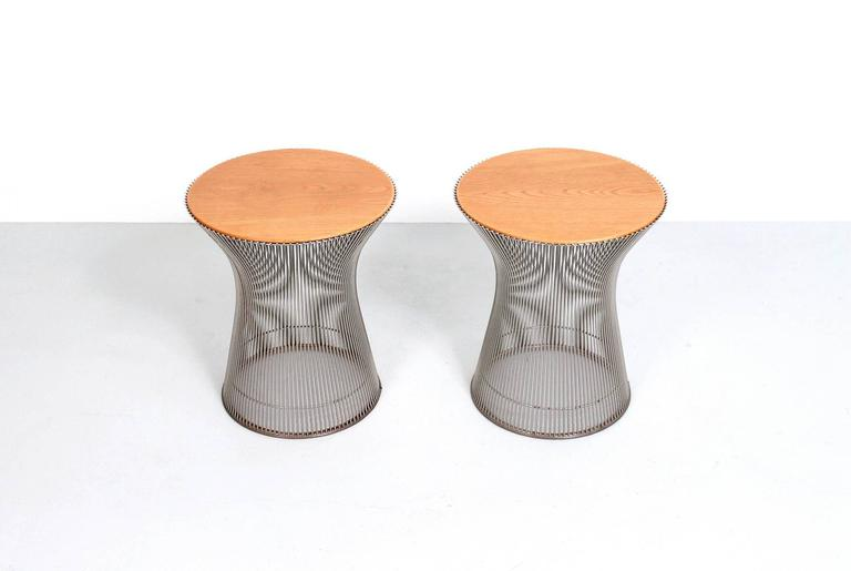 Mid-Century Modern Pair of Side Tables by Warren Platner for Knoll For Sale