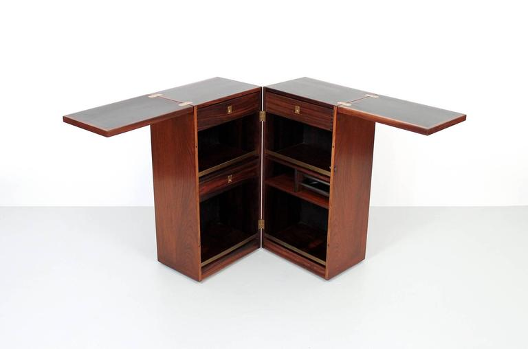 Rosewood dry bar by dyrlund for sale at 1stdibs for Home dry bar furniture