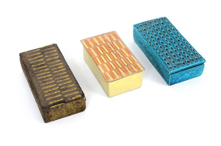 Collection of Three Raymor Ceramic Boxes 2
