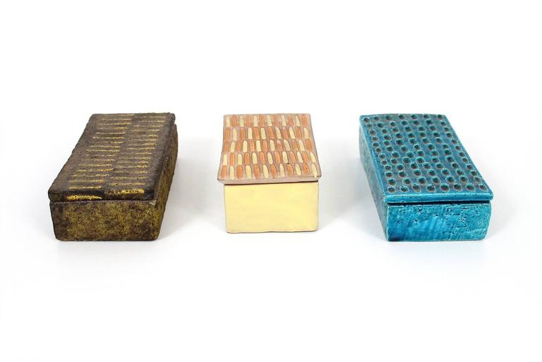 Collection of Three Raymor Ceramic Boxes 3