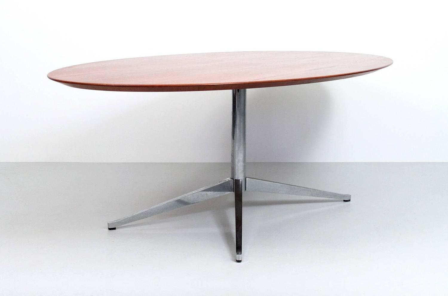 Oval Florence Knoll Teak Dining Table For Sale at 1stdibs : FKTT61z from www.1stdibs.com size 1500 x 992 jpeg 50kB