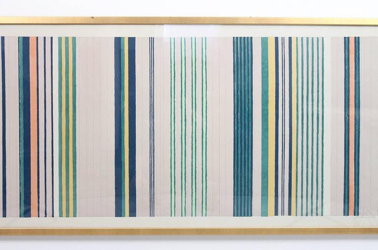 Mid-Century Modern Large Silkscreen by Gene Davis For Sale