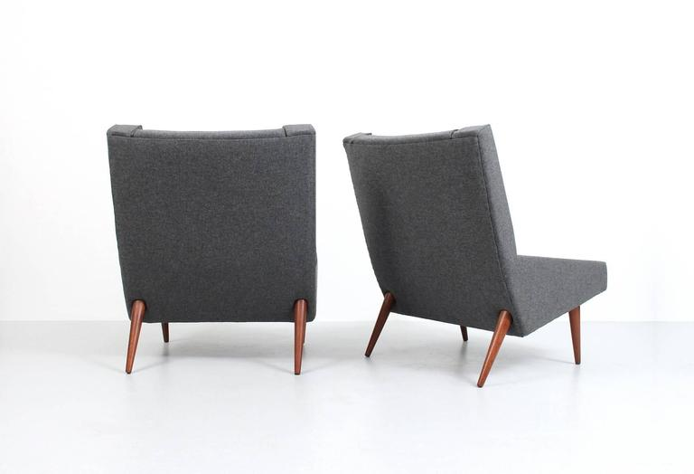 Danish Rare Pair of Illum Wikkelsø Lounge Chairs For Sale