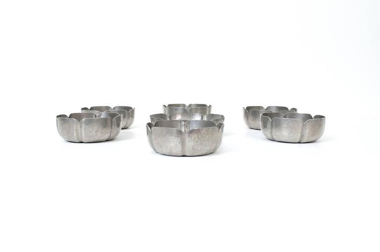 Set of George Gebelein Pewter Bowls 2