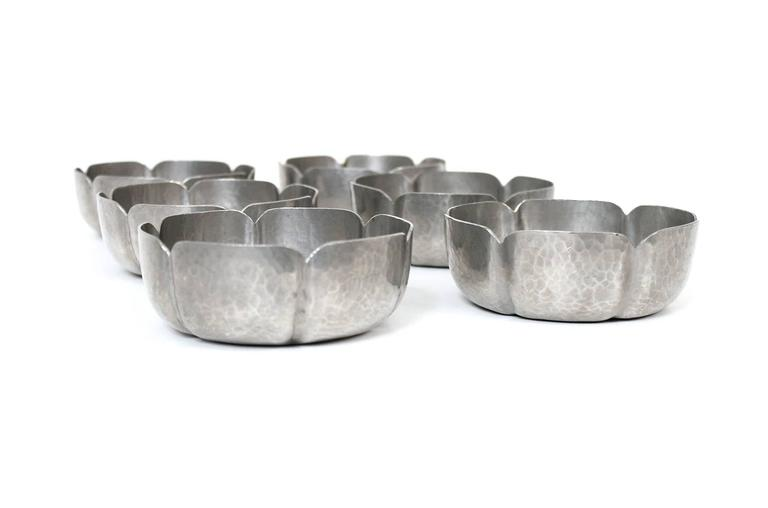 Set of George Gebelein Pewter Bowls 6