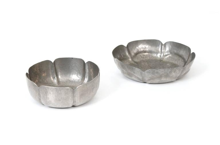 Set of George Gebelein Pewter Bowls 5