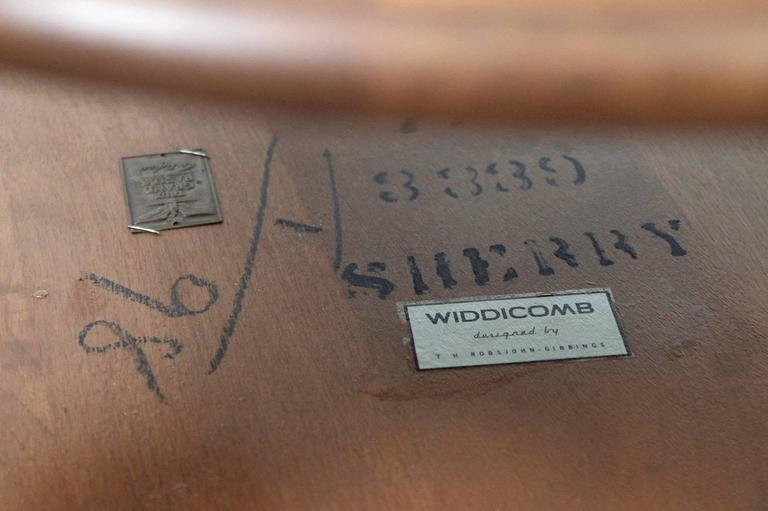 Pair of T.H. Robsjohn-Gibbings Saber Leg Tables For Sale 3