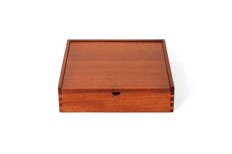 Scandinavian Teak Jewelry Box For Sale at 1stdibs