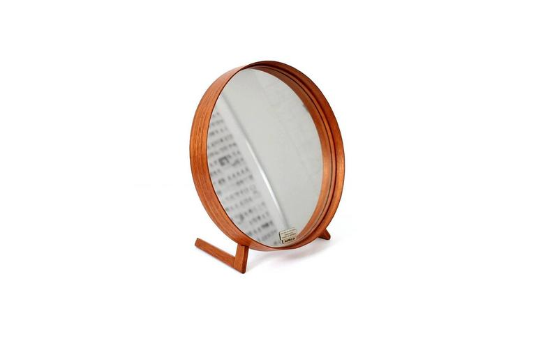 Scandinavian Modern Teak Table Mirror by Uno & Osten Kristiansson for Luxus For Sale