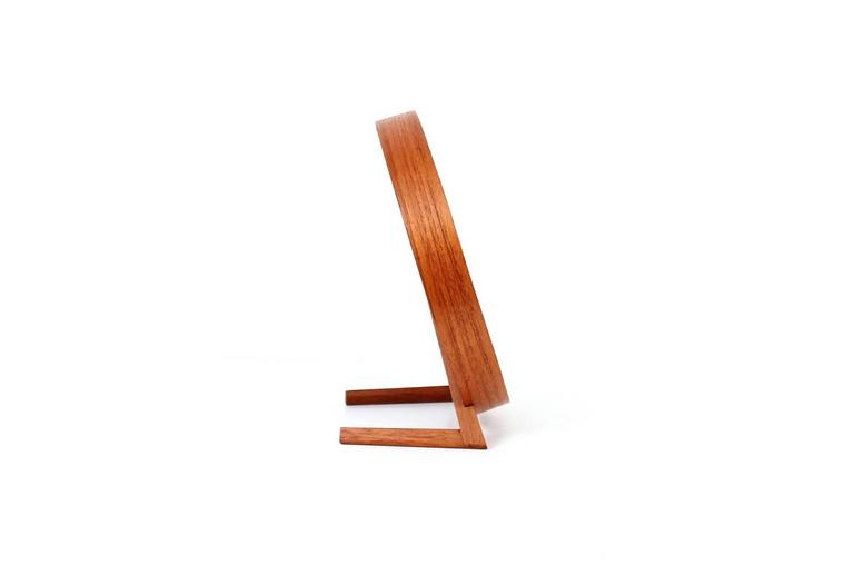 Swedish Teak Table Mirror by Uno & Osten Kristiansson for Luxus For Sale