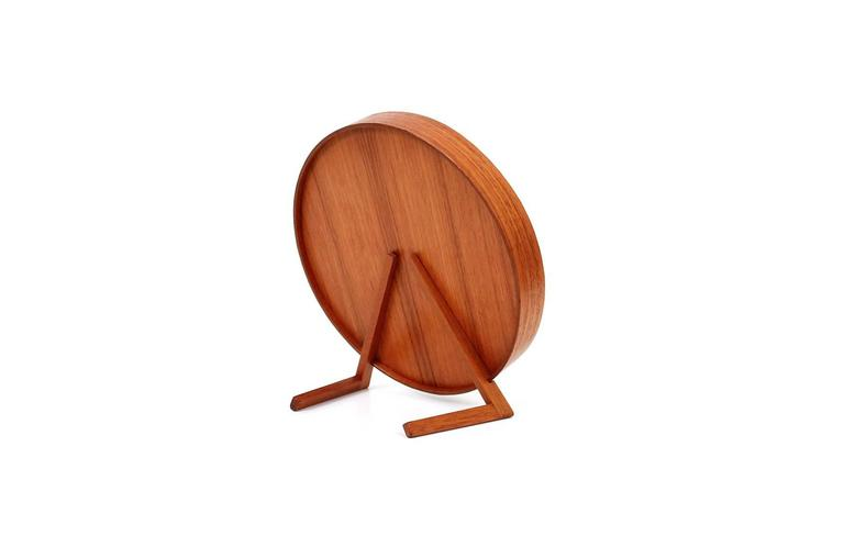 Teak Table Mirror by Uno & Osten Kristiansson for Luxus In Excellent Condition For Sale In Belmont, MA