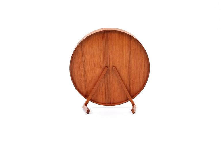 Mid-20th Century Teak Table Mirror by Uno & Osten Kristiansson for Luxus For Sale