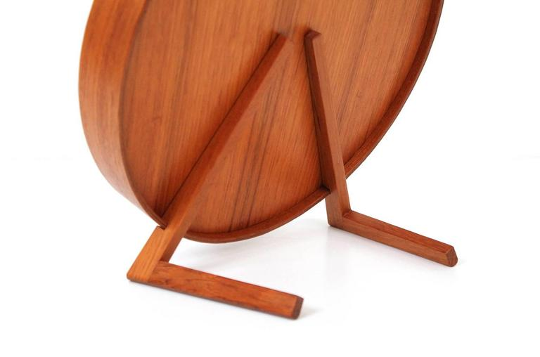 Glass Teak Table Mirror by Uno & Osten Kristiansson for Luxus For Sale
