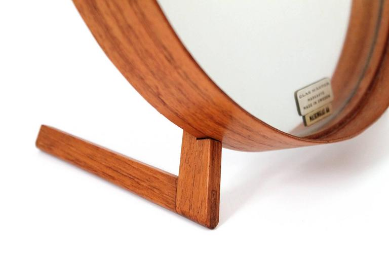 Teak Table Mirror by Uno & Osten Kristiansson for Luxus For Sale 1