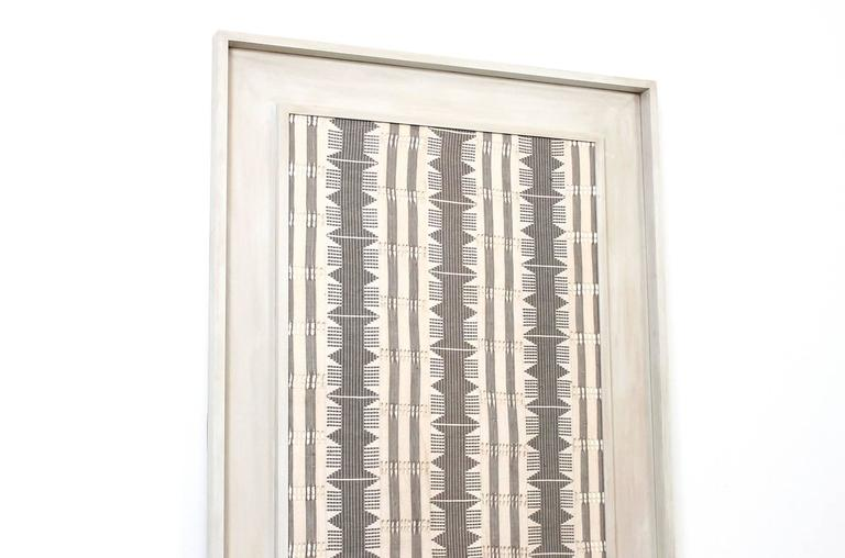 Unknown Large Framed Modernist Textile For Sale