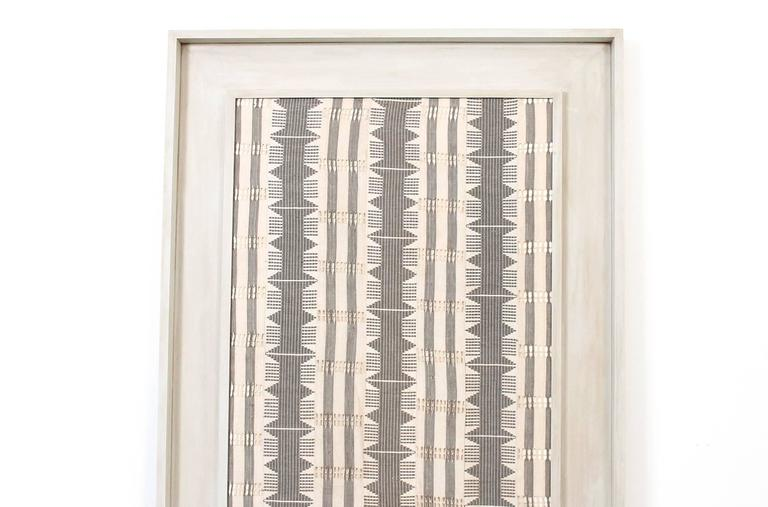 Mid-Century Modern Large Framed Modernist Textile For Sale