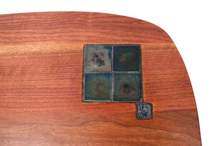 Walnut Edward Wormley for Dunbar Tiffany Tile-Top Table For Sale