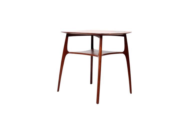 Mid-Century Modern Edward Wormley for Dunbar Tiffany Tile-Top Table For Sale