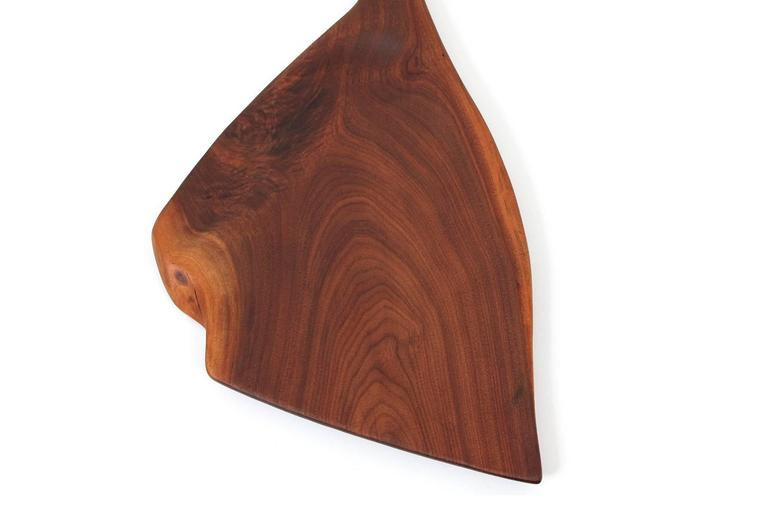 Late 20th Century Sculptural Walnut Cutting Board by Dirk Rosse For Sale