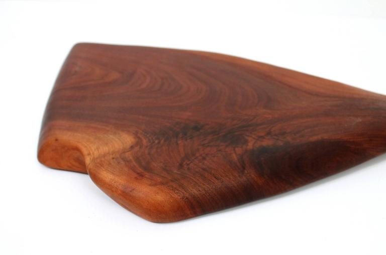 Sculptural Walnut Cutting Board by Dirk Rosse For Sale 3