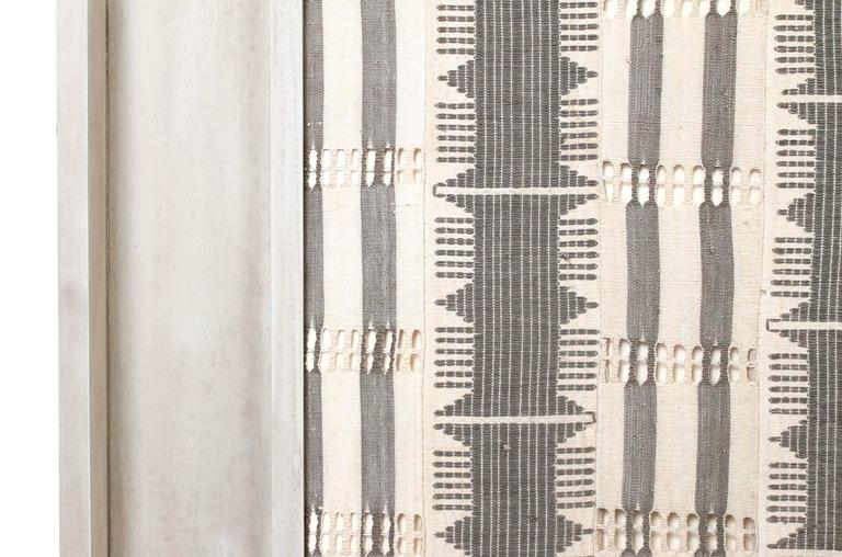 Large Modernist Framed Textile In Excellent Condition For Sale In Belmont, MA