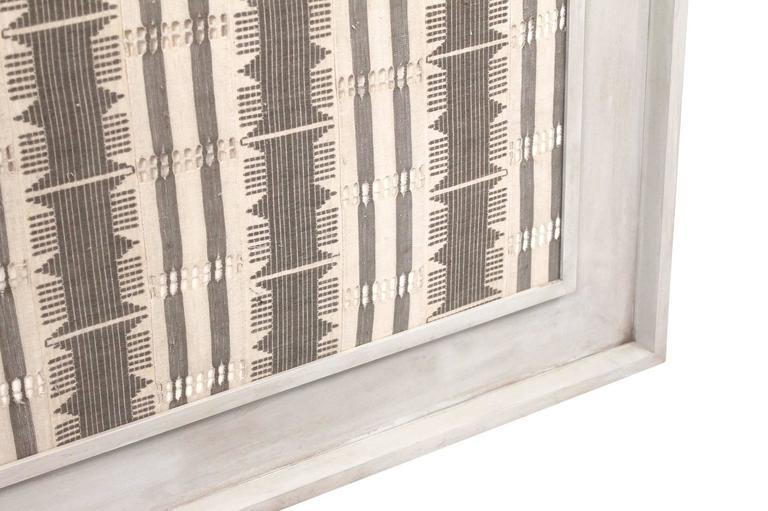 Linen Large Modernist Framed Textile For Sale
