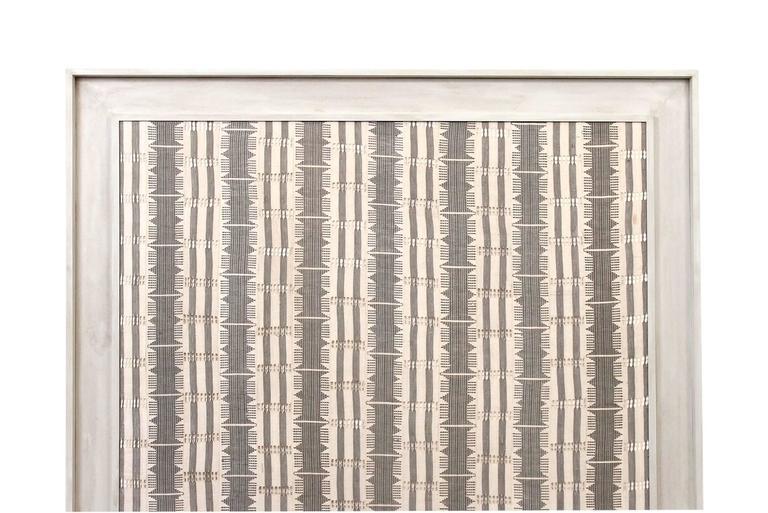 Mid-Century Modern Large Modernist Framed Textile For Sale
