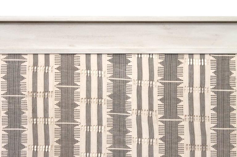 Unknown Large Modernist Framed Textile For Sale