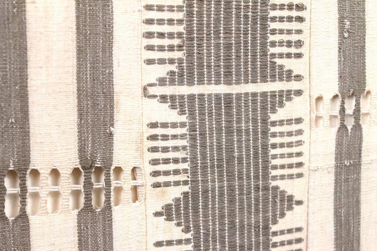 Large Modernist Framed Textile For Sale 3