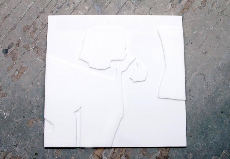 "Large Lucite panel by David Porter. Signed and titled on the reverse: ""NATUKKO"" June 24 1965 Porter. Porter early in his career was a gallerist exhibiting Motherwell, Pollock, Gottleib, etc. Starting in 1958 he devoted himself to full time painting"