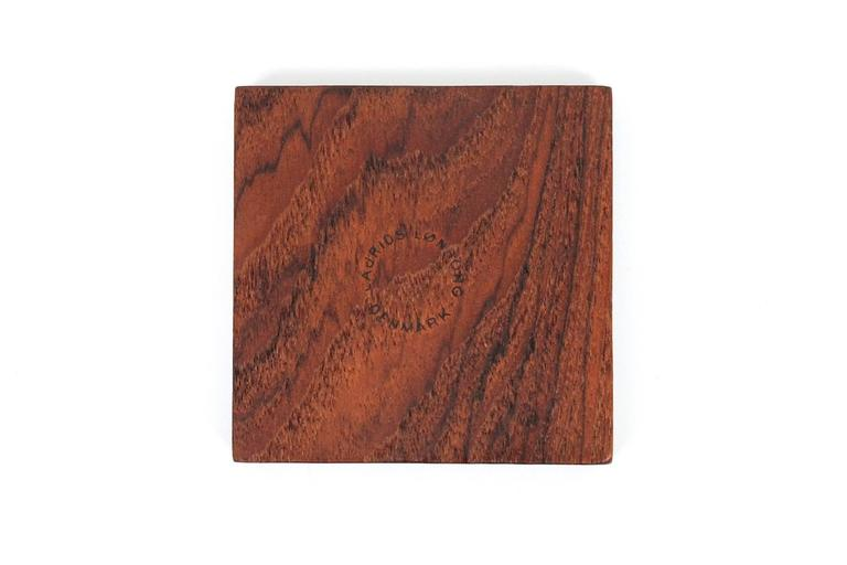 Graphic Danish Teak Coaster Set by Laurids Lonborg For Sale 4