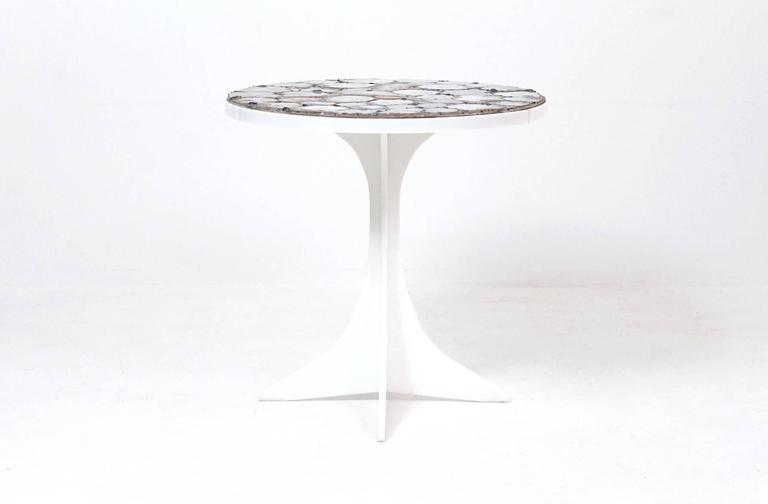 Mid-Century Modern Miriam Rogers Mosaic and Acrylic Table For Sale