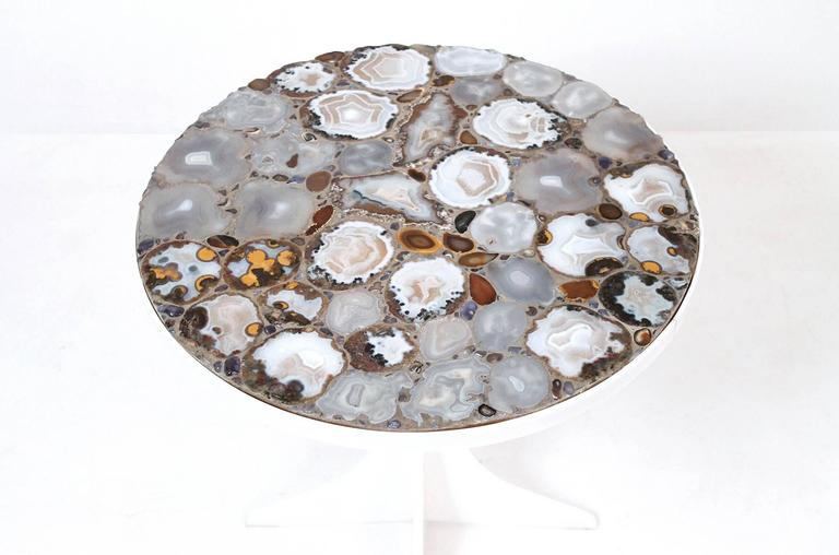 American Miriam Rogers Mosaic and Acrylic Table For Sale