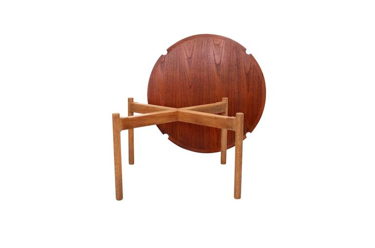 Hans Wegner Coffee Table with Reversible Top In Excellent Condition For Sale In Belmont, MA