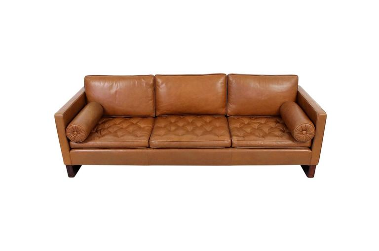 Mid-20th Century Leather Sofa by Mies Van Der Rohe for Knoll For Sale