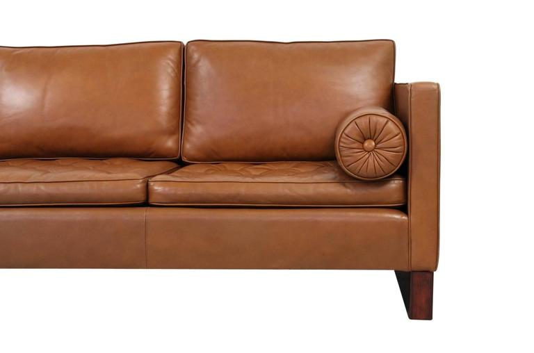 Leather Sofa by Mies Van Der Rohe for Knoll For Sale 1