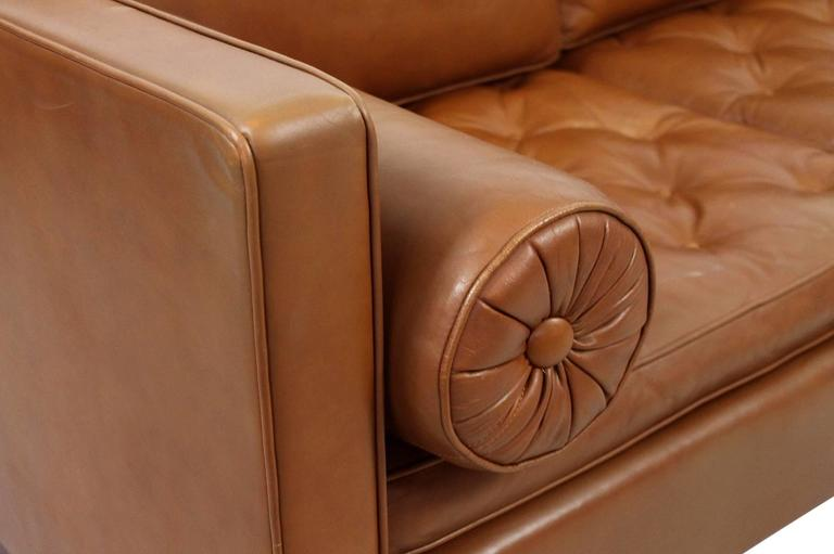 Leather Sofa by Mies Van Der Rohe for Knoll For Sale 3