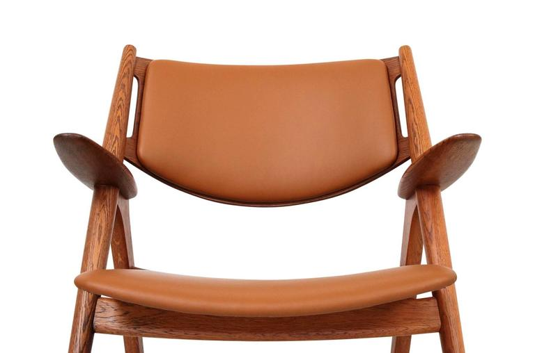 Mid-20th Century Hans Wegner Sawbuck Lounge Chairs For Sale