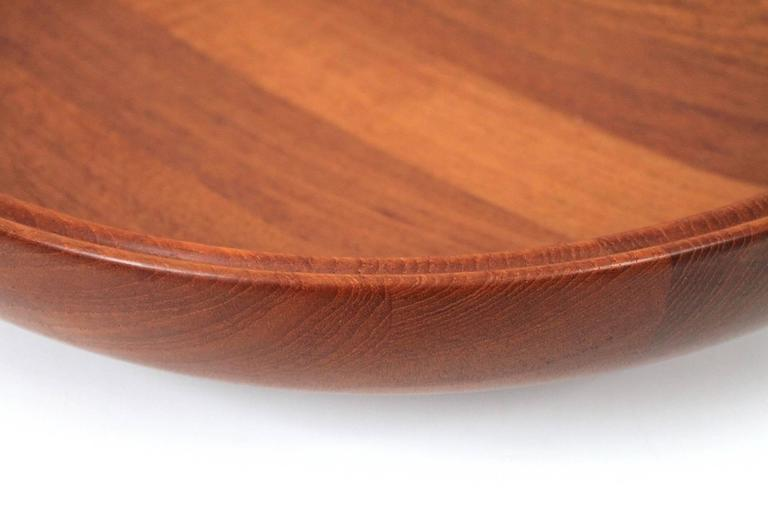 Large Henning Koppel for Georg Jensen Teak Bowl For Sale 3