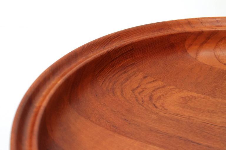 Mid-20th Century Large Henning Koppel for Georg Jensen Teak Bowl For Sale