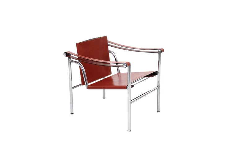 Bauhaus Pair of Le Corbusier LC1 Lounge Chairs for Cassina For Sale