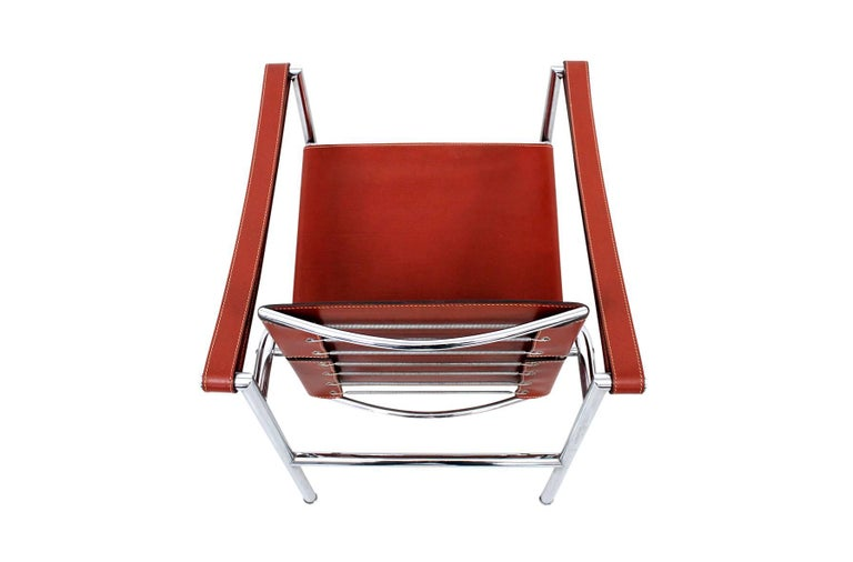Mid-20th Century Pair of Le Corbusier LC1 Lounge Chairs for Cassina For Sale
