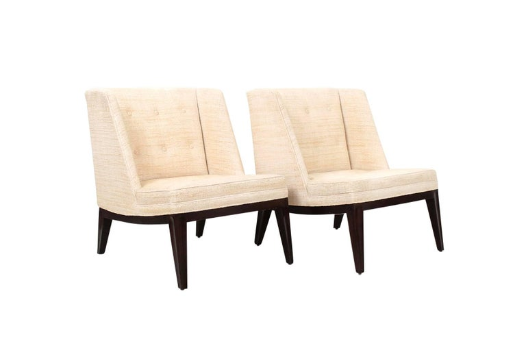 Mid-Century Modern Edward Wormley for Dunbar Lounge Chairs For Sale