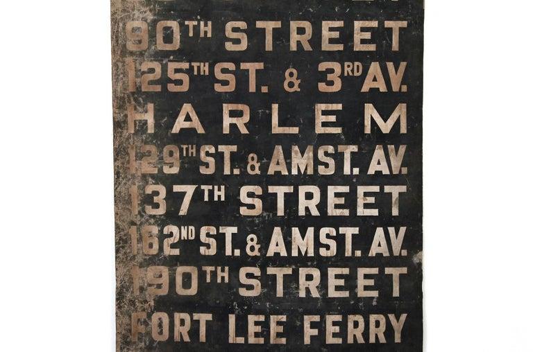Original 1930s NYC Subway Destination Banner 5