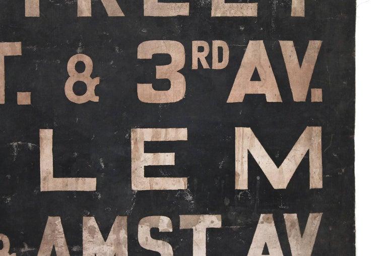 Original 1930s NYC Subway Destination Banner 6