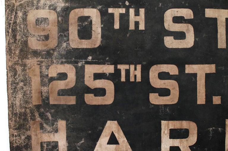 Original 1930s NYC Subway Destination Banner 10