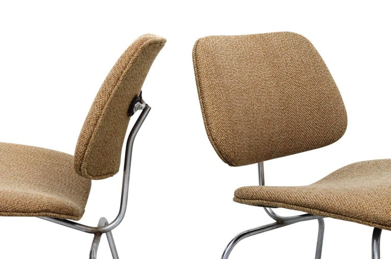Rare Charles Eames LCM Pair of with Original Girard Fabric 5