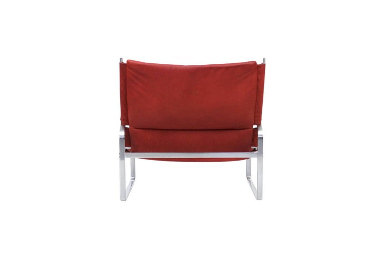 Mid-20th Century Preben Fabricius and Jorgen Kastholm Lounge Chair and Ottoman For Sale