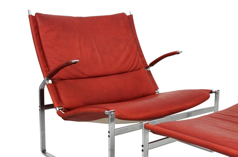 Preben Fabricius and Jorgen Kastholm Lounge Chair and Ottoman For Sale 1